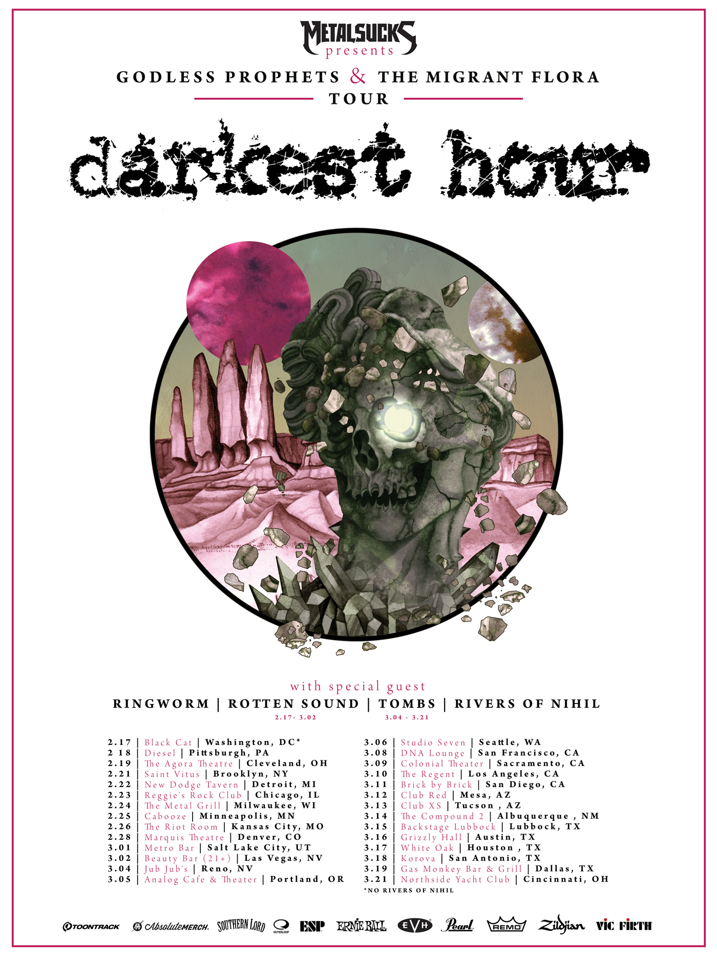 darkest hour godless prophets & the migrant flora tour